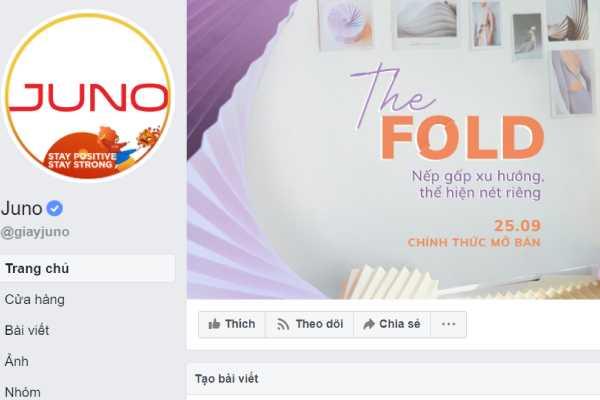 truy cập Fanpage Juno