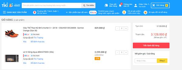 mã giảm giá Tiki cho tài khoản mới